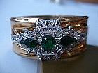 McClelland Barclay Art Deco Emerald Rhinestone Bracelet