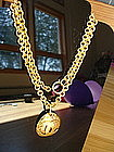 Vintage Classic CHANEL Logo Necklace/Chain