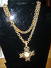 CHANEL Baroque Pearl Necklace Pendant/Belt 95A