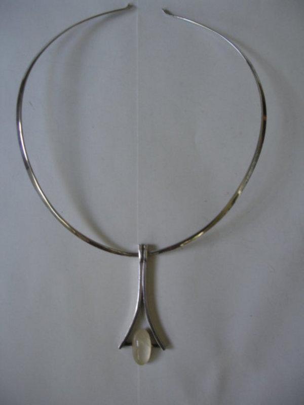 Mid Century Modern Norwegian Sterling Silver Pendant