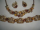 Marcel BOUCHER Art Deco Rhinestone Parure Necklace +