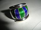 David Andersen Norway Sterling Silver Enamel Ring