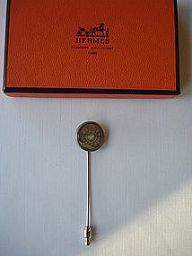 Hermes Paris Mother of Pearl Stick Pin in Box