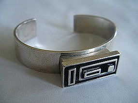 Danish Denmark Modernist Sterling Silver Bracelet