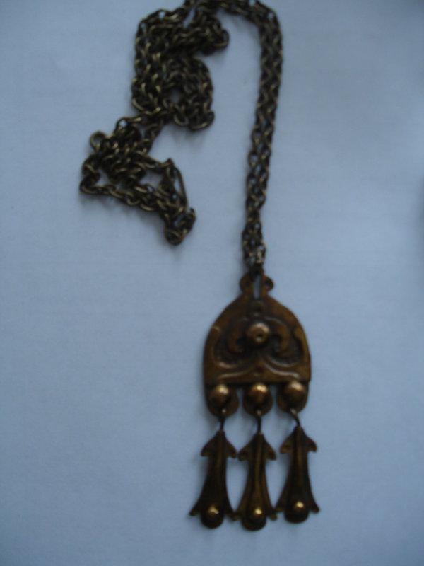 Bronze Seppo Tamminen Finland Modernist Necklace