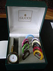 Vintage Gucci  18KYG Bangle Watch w/12 Bezels Petite