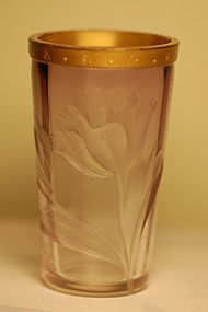 Moser Bohemian Glass Vase C:1900