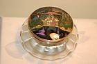 English Glass & Sterling box HP Alphonso Mucha type