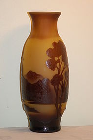 French Cameo glass vase Galle-type