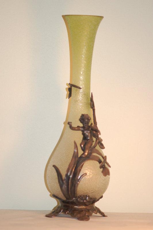 Wmf Silverplate Glass Vase Rare C1900 Item 1237430