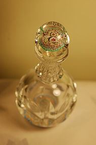 Baccarat St Louis paperweight glass perfume bottle