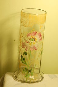Moser Mont Joye hand-painted art glass vase C:1900