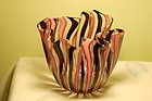 Barovier & Toso Ercole Barovier a canne Murano glass vase C:1950