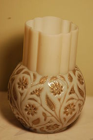 Findlay Onyx glass celery vase C:1889
