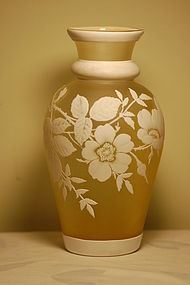 Thomas Webb English cameo glass vase C:1900