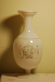 Richardson Engliah glass opaline vase C:1850