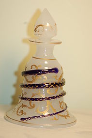 Antique Baccarat French opaline glass perfume C:1890