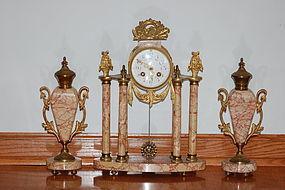 Marti Antique French clock set C:1900