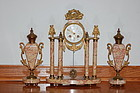 Marti Antique French clock set C:1900