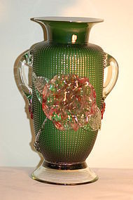 Richardson English diamond glass vase C:1850