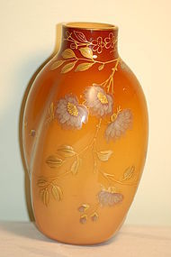 Thomas Webb English Peachblow glass vase C:1890