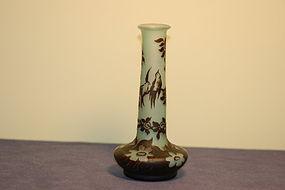 DeVez French cameo glass vase Daum Nancy type C:1900