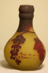 Delatte French cameo glass vase Daum Nancy type C:1920