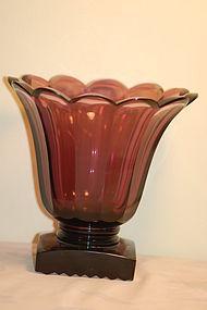 Antique Boston & Sandwich amethyst glass vase
