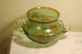 Val St Lambert French cameo glass vase C:1910