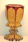 Biedermeier period rare Bohemian glass chalice C:1840