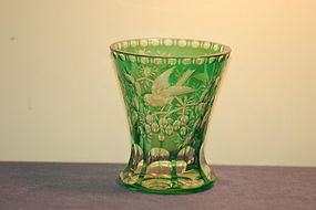 Thomas Webb Moser glass vase Museum ex-display piece