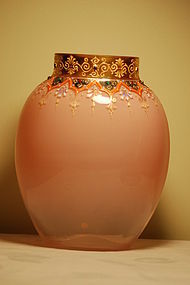 Moser Bohemian glass vase with jewels C:1920