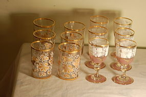 Moser Bohemian glass 12 piece set C:1885