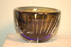 Orrefors rare 'Ariel' glass vase by Edvin Ohrstrom C:1968