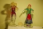 Archimede Seguso Murano glass figurines C:1955