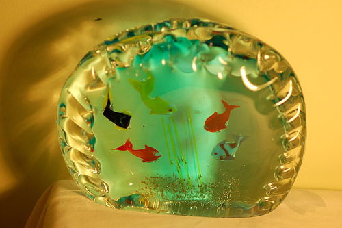 Barbini Murano glass aquarium paperweight C:1960