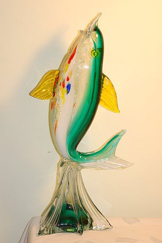 Dino Martens style large Murano glass fish figurine