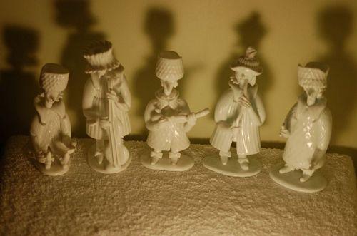 5 Fulvio Bianconi (Venini) Grotesque/Gotteschi Murano glass figurines