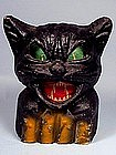 Vintage Pulp Black Cat Halloween Lantern