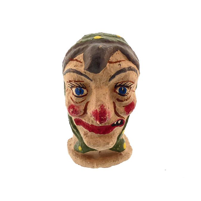 Antique Halloween Witch Puppet Head