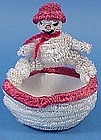 Old German Snowman Christmas Candy Container