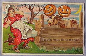 Halloween Postcard Julius Bien, 1910