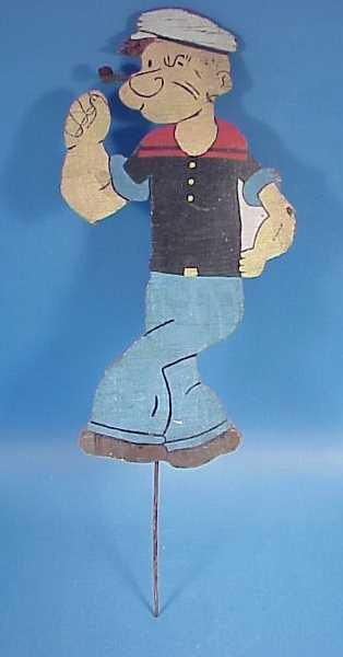 Handpainted Wooden Popeye Garden Ornament