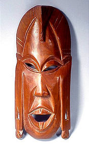 Handcarved Kenyan Wooden Ceremonial Mask