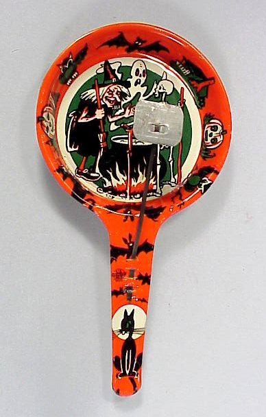 Vintage Tin Litho Halloween Pan Noisemaker