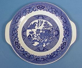 "Royal China ""Willow Ware"" Handled Plate"