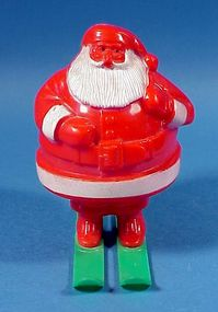 Vintage Hard Plastic Santa Candy Container