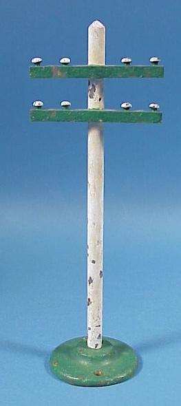 Vintage Cast Iron Train Set Telephone Pole
