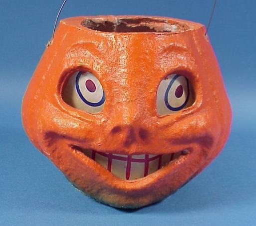 Vintage Amer. Pulp Halloween Jack O'Lantern