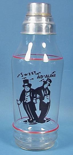 Sweet Ad-aline Glass Cocktail Shaker